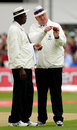 Steve Bucknor and Darrell Hair decide to change the ball, England v New Zealand, 3rd Test, Trent Bridge, June 6, 2008