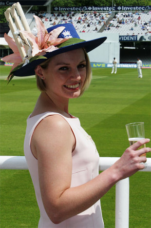 Getting into the spirit: spectator Kate Roberts takes the first Lord's Ladies' Day very seriously, Middlesex v Essex, Lord's, June 7, 2008