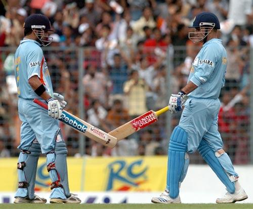 Virender Sehwag and Gautam Gambhir put on 155 in quick timeVirender Sehwag And Gautam Gambhir