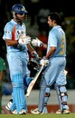 Yuvraj Singh congratulates Gautam Gambhir on his hundred, Bangladesh v India, 3rd ODI, Kitply Cup, Mirpur, June 12, 2008
