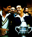 Kapil Dev and Mohinder Amarnath are all smiles after winning the Cup