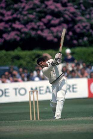 Kapil Dev during his innings of 175 not out off 138 balls against Zimbabwe at the Nevill Ground, Tunbridge Wells