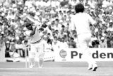 Sandeep Patil bats in the semi-final of the 1983 World Cup