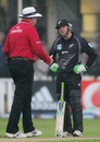 Brendon McCullum can't believe the match is about to be called off, England v New Zealand, 2nd ODI, Edgbaston, June 18, 2008