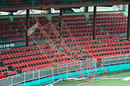 Strong winds toppled a scaffolding at Arnos Vale, St Vincent, June 23, 2008