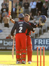 Lou Vincent celebrates his Twenty20 hundred