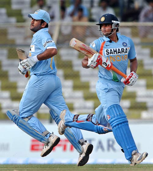 MS Dhoni and Suresh Raina scored hundreds in the only ODI India played against Hong Kong in Asia Cup 2008 (photo - EspinCricinfo)
