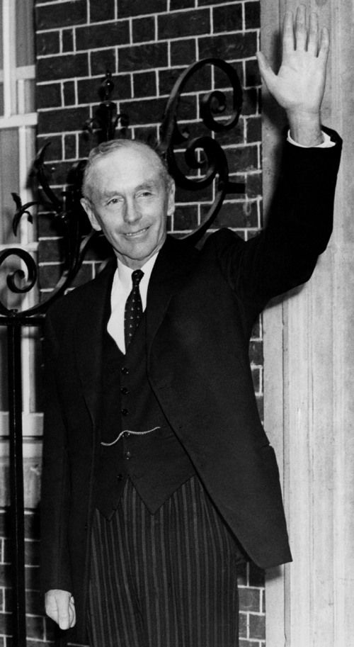 Sir Alec Douglas Home On The Steps Of 10 Downing Street