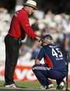 A disconsolate Luke Wright had bowled a tight final over, England v New Zealand, 4th ODI, The Oval, June 25, 2008