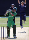 Joy for Dewald Nel as he has Reinhardt Strydom caught at the wicket, Scotland v Ireland, Aberdeen, July 2, 2008