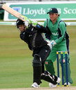 James Marshall drives on his way to a hundred, Ireland v New Zealand,  Aberdeen, July 1, 2008