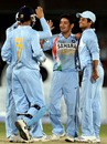 Piyush Chawla celebrates the wicket of Mohammad Yousuf, Pakistan v India, Super Four, Asia Cup, Karachi, July 2, 2008