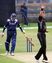 Jacob Oram has Colin Smith caught behind, Scotland v New Zealand, Tri-series, Aberdeen, July 3, 2008