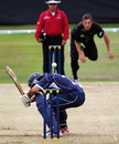 Qasim Sheikh takes evasive action, Scotland v New Zealand, Tri-series, Aberdeen