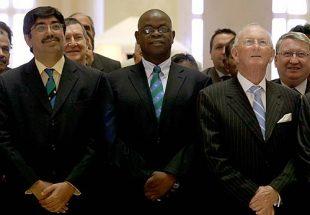 Zimbabwe Cricket chairman Peter Chingoka at the ICC conference, Dubai, July 4, 2008