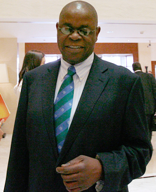 Zimbabwe Cricket chairman Peter Chingoka at the ICC conference, Dubai, July 4, 2008