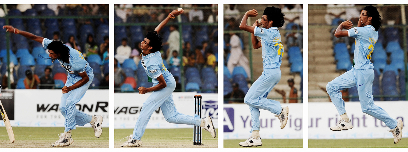 Ishant Sharma in his final delivery stride