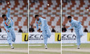 Pragyan Ojha in his final delivery stride, Bangladesh v India, Super Four, Asia Cup, Karachi, June 28, 2008