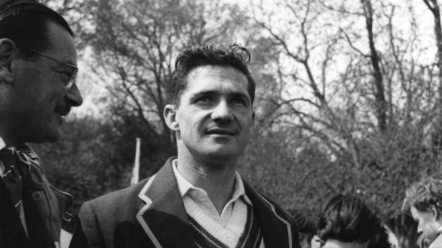 Neil Harvey poses for the camera
