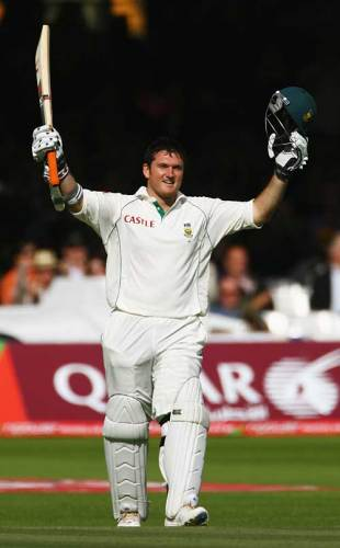 Graeme Smith reaches another century at Lord's, England v South Africa, 1st Test, Lord's, 4th day, July 13, 2008