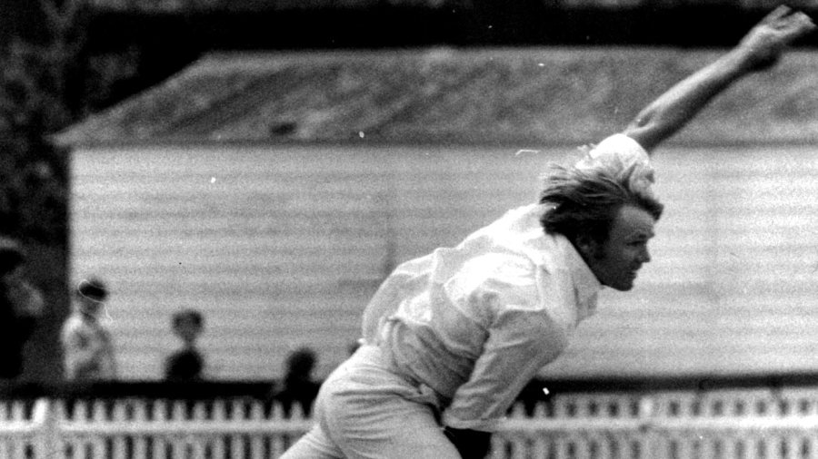 Mike Procter in his delivery stride