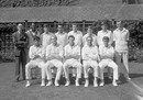 Glamorgan, who won the County Championship in 1969. Back:  H Jeffreys (scorer), Tony Cordle, Brian Lewis, Bryan Davis, Lawrence Williams, Eifion Jones, Roger Davis, Malcolm Nash.  Front: Majid Jahangir Khan, Ossie Wheatley, Peter Walker, David Shepherd, Alan Jones, Lord's, August 24, 1969