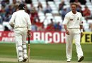 Mike Atherton and Allan Donald have a staring match, England v South Africa, fourth Test,  Trent Bridge, 1998