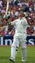 Graeme Smith raises his arms to celebrate his magnificent hundred