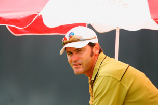 Simon Taufel looks on from the outfield, South Africa v Sri Lanka, Super Eights, Guyana, March 28, 2007