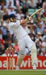 Kevin Pietersen was quickly into his stride with some handsome boundaries, England v South Africa, 4th Test, The Oval, August 8, 2008