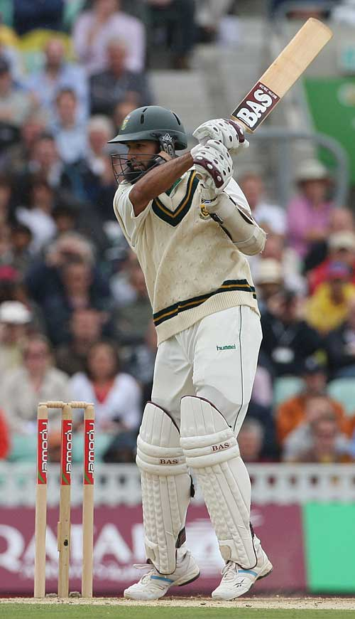 Hashim Amla cuts hard through the off side, England v South Africa, 4th Test, The Oval, August 9, 2008