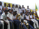 The victorious Sri Lanka squad pose with the series trophy, Sri Lanka v India, 3rd Test, PSS, Colombo, 4th day, August 11, 2008