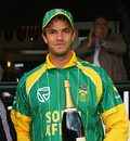 Albie Morkel bags the Man-of-the-Match award, PCA Masters XI v South Africans, Wormsley, August 13, 2008