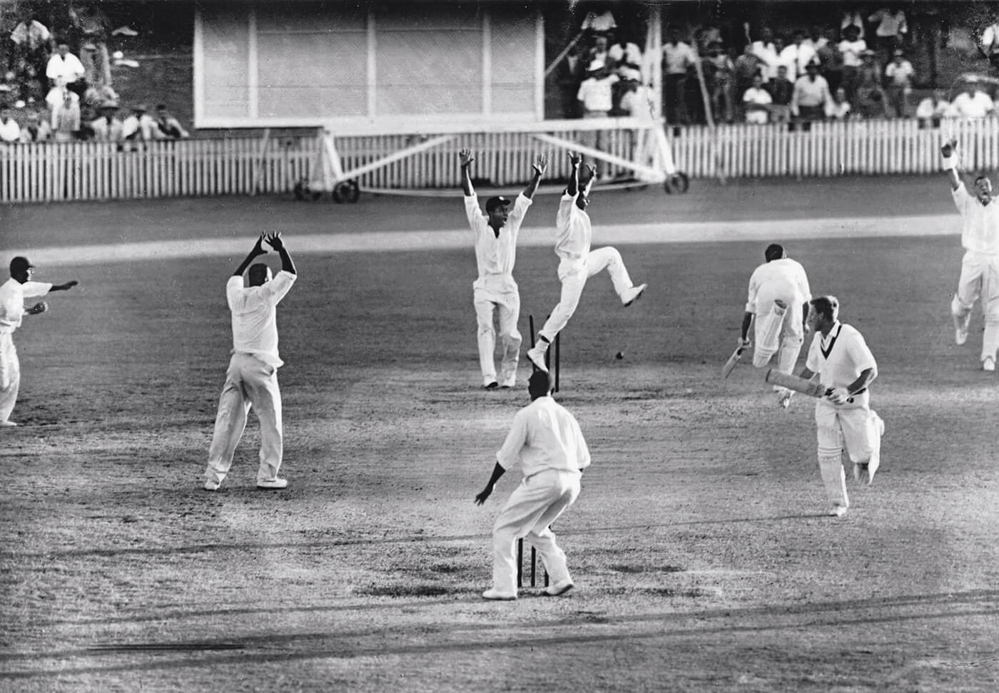 The final play of the first Tied Test | Cricket Photo | ESPN Cricinfo