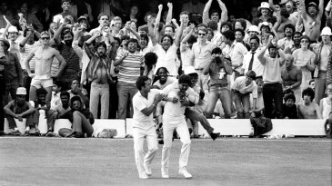 Catch of the century: Kapil Dev gets Viv Richards