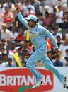S Badrinath is elated after taking his first catch in international cricket