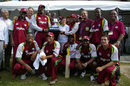 The West Indian team are all smiles after winning the tournament