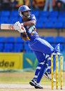 Mahela Udawatte pulls the ball during his 43