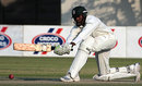 Timycen Maruma sweeps during his half-century, Zimbabwe Board XI v Pakistan Academy, Harare, 3rd day, August 31, 2008