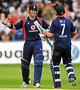 Matt Prior and Ian Bell celebrate England's 10-wicket thrashing of South Africa, England v South Africa, 2nd ODI, Trent Bridge, August 26, 2008