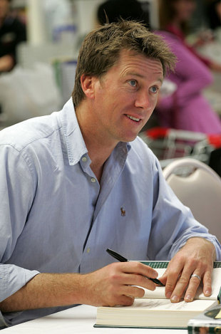 Glenn McGrath signs his autobiography <i>Line and Strength</i> for fans, Adelaide, September 4, 2008