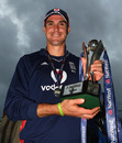 Kevin Pietersen poses with the series trophy, England v South Africa, 5th ODI, Cardiff, September 3, 2008