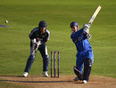 Jason Gallian tries to clear the off side, Kent v Essex, Pro40, Canterbury, September 13, 2008
