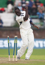 Robbie Joseph celebrates another wicket as Lancashire are bowled out for 107 by Kent, Liverpool, September 17, 2008