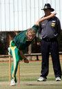 Andrew Birch sends down a delivery, University Sports South Africa XI v Sri Lanka A, tour match, Pretoria, September 17, 2008