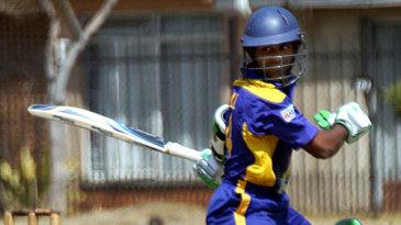 Kaushal Silva loses control of his bat