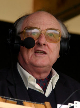 Henry Blofeld in full flow, June 6, 2003