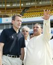 John Carr, the England board's director of cricket operations, visits the Sardar Patel Stadium in Ahmedabad, where England will play a Test in December, Ahmedabad, September 24, 2007