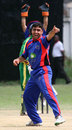 Hasti Gul appeals successfully during his three-wicket haul against Tanzania,Tanzania v Afghanistan, World Cricket League Division 4, Dar-es-Salaam, October 7, 2008