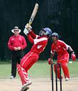 Zain Abbas hooks against Afghanistan. ICC WCL Div 4, 08.10.2008